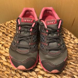 Grey and Pink New Balance Sneakers